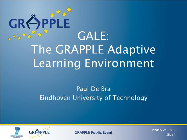 Gale the grapple adaptive learning environment