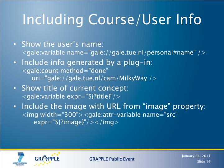 Including Course/User Info