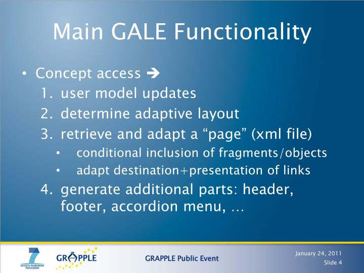 Main GALE Functionality