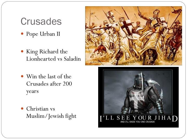 crusades and pope urban essay Pope urban ii's call for a crusade:four accounts -this piece of work has four different accounts of one of the first sermons that pope urban gave about the crusade the sermon was a response to constantinople plea for help against the turks.