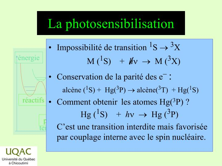 La photosensibilisation