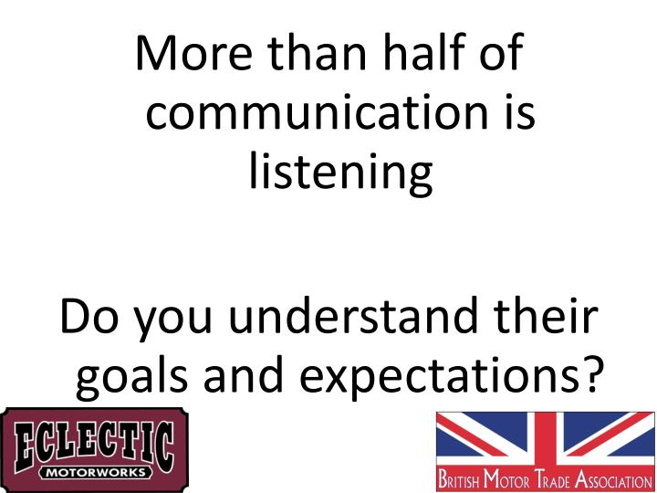 More than half of communication is listening