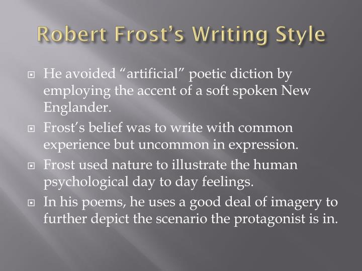 what type of poetry did robert frost write