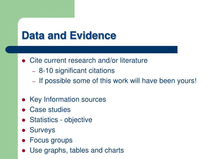 Cite current research and/or literature