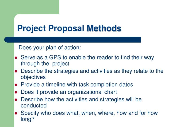 Serve as a GPS to enable the reader to find their way through the  project