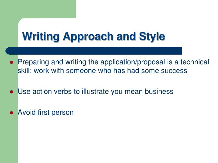 Preparing and writing the application/proposal is a technical skill: work with someone who has had some success
