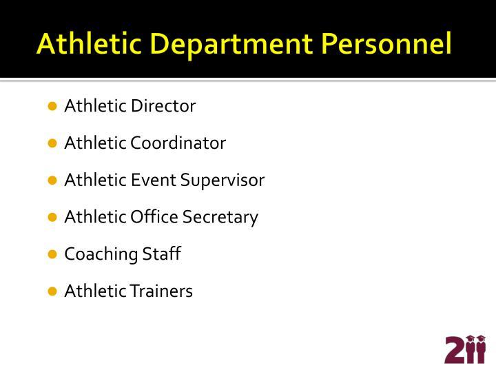 Athletic department personnel