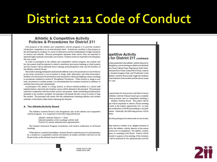 District 211 Code of Conduct