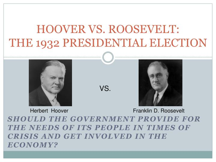 the reasons why people supported delano roosevelt in the 1932 us presidential elections
