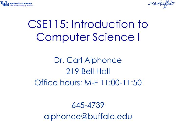 cse115 introduction to computer science i