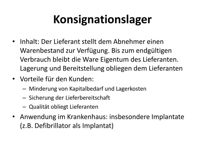 Konsignationslager