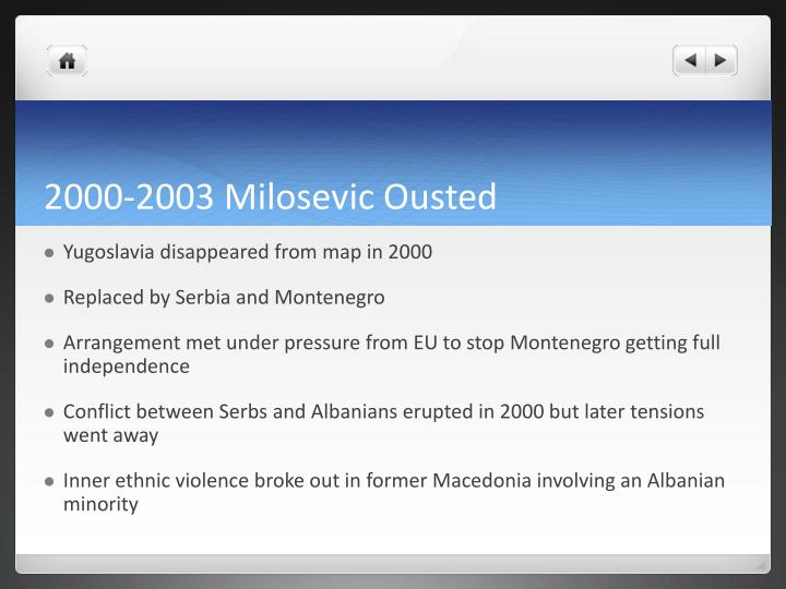 2000-2003 Milosevic Ousted