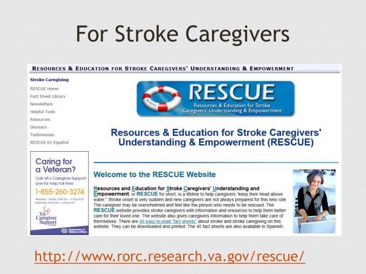 For Stroke Caregivers