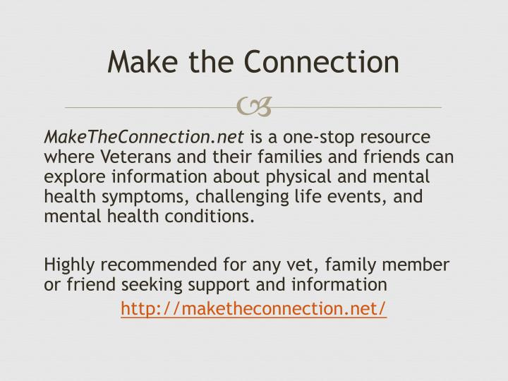 Make the Connection