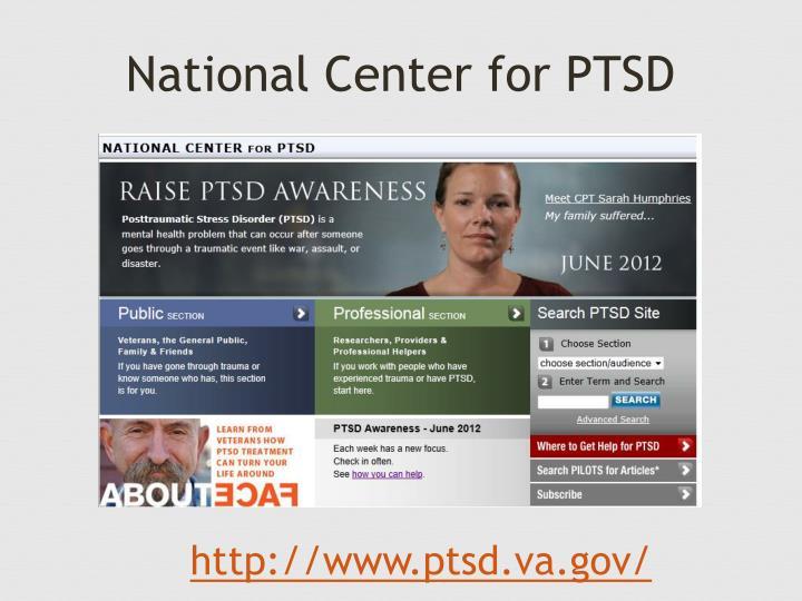 National Center for PTSD