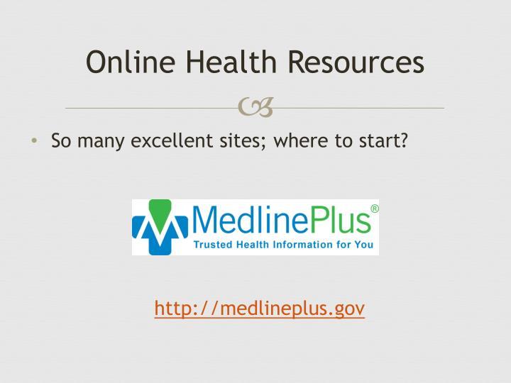 Online Health Resources