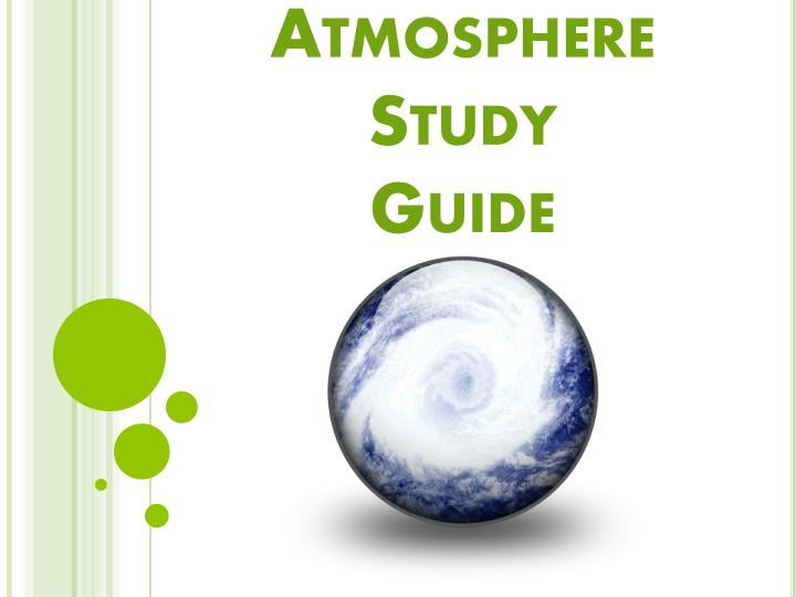 atmosphere study guide n.