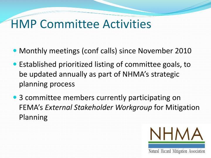 HMP Committee Activities