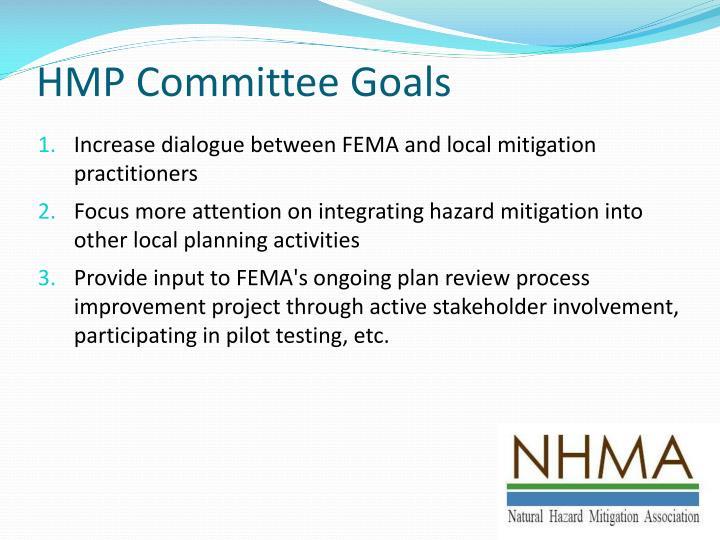 HMP Committee Goals