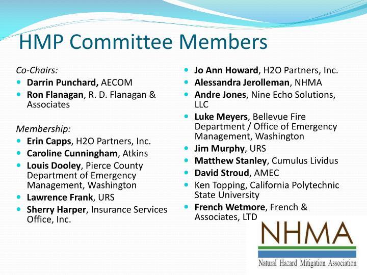 Hmp committee members