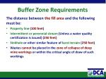 buffer zone requirements