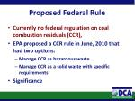 proposed federal rule