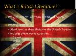 what is british literature
