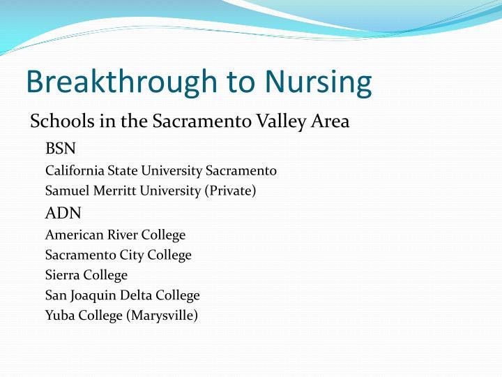 Breakthrough to nursing1