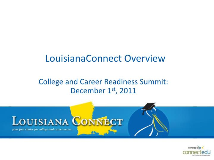 Louisianaconnect overview