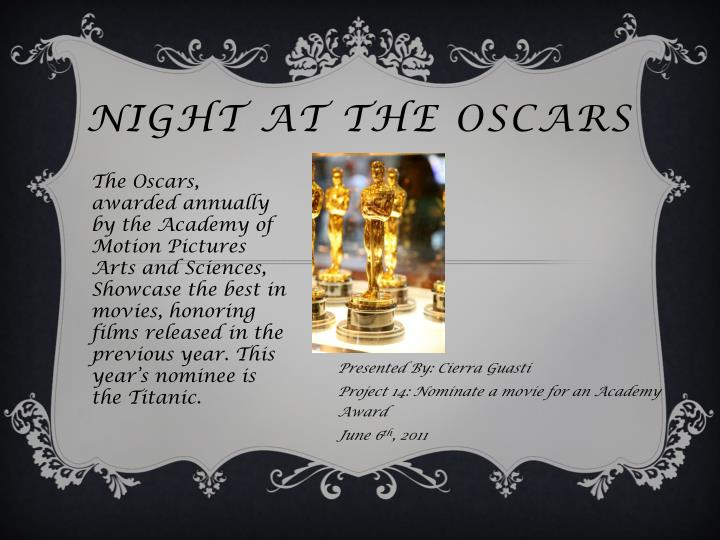 night at the oscars n.