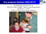 any progress between 2002 20121