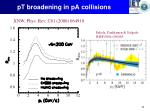 pt broadening in pa collisions1