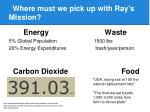 where must we pick up with ray s mission