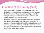 function of the family cont