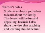 teacher s notes