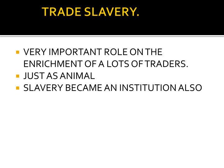 TRADE SLAVERY.