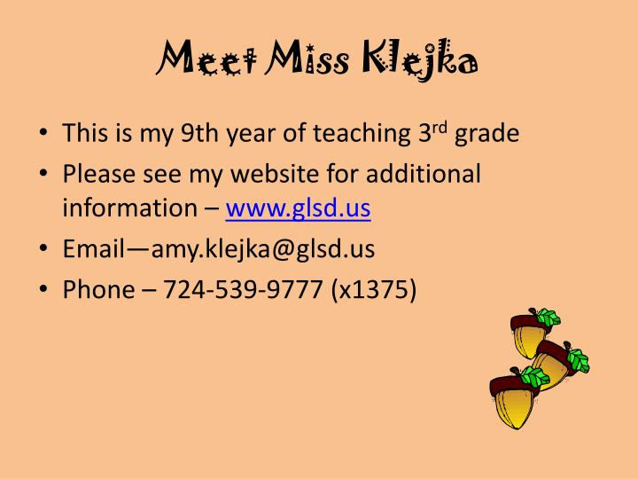 Meet miss klejka1
