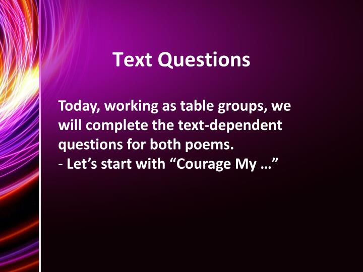 Text Questions