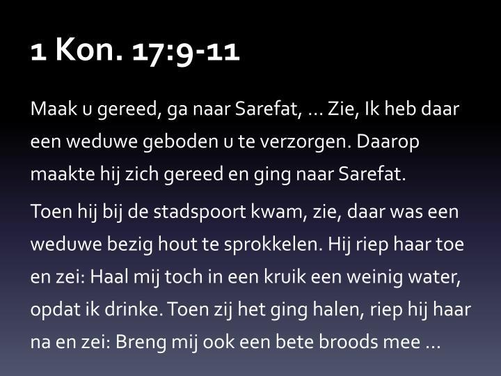 1 Kon. 17:9-11
