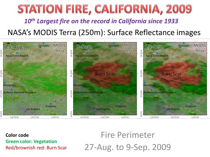 Nasa s modis terra 250m surface reflectance images