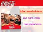 4 add mineral substance give more energy