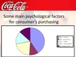 some main psycholog i cal factors for consumer s purchasing