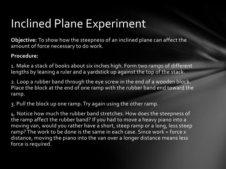 Inclined Plane Experiment