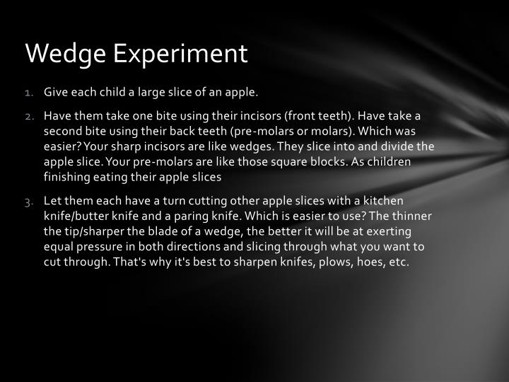 Wedge Experiment