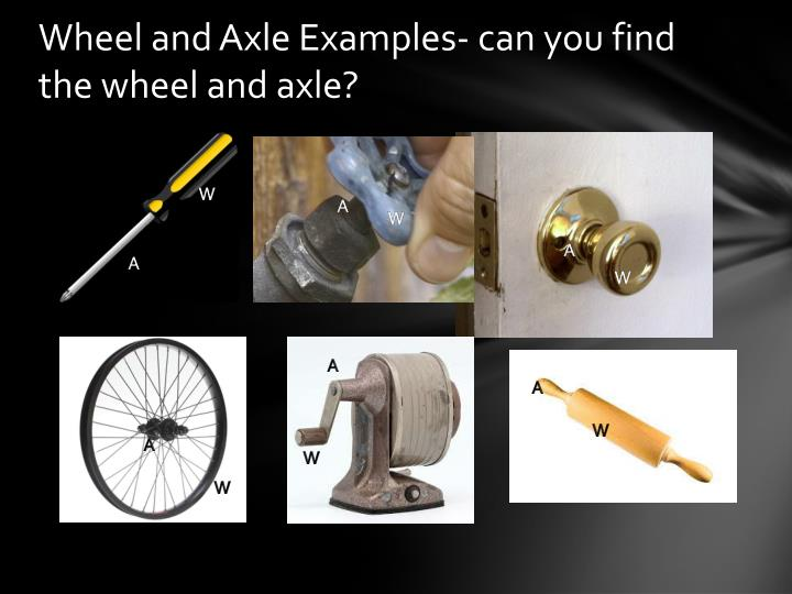 Wheel and Axle Examples- can you find the wheel and axle?