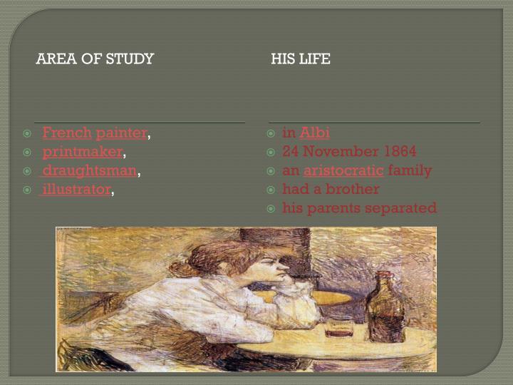 Area of study