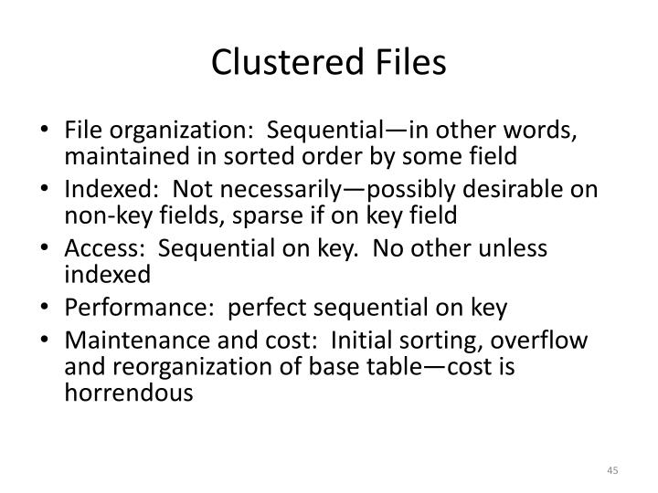 Clustered Files