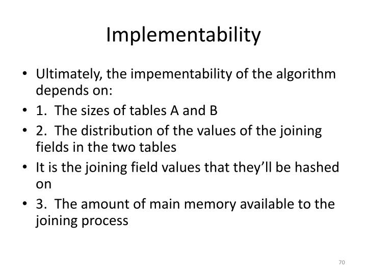 Implementability