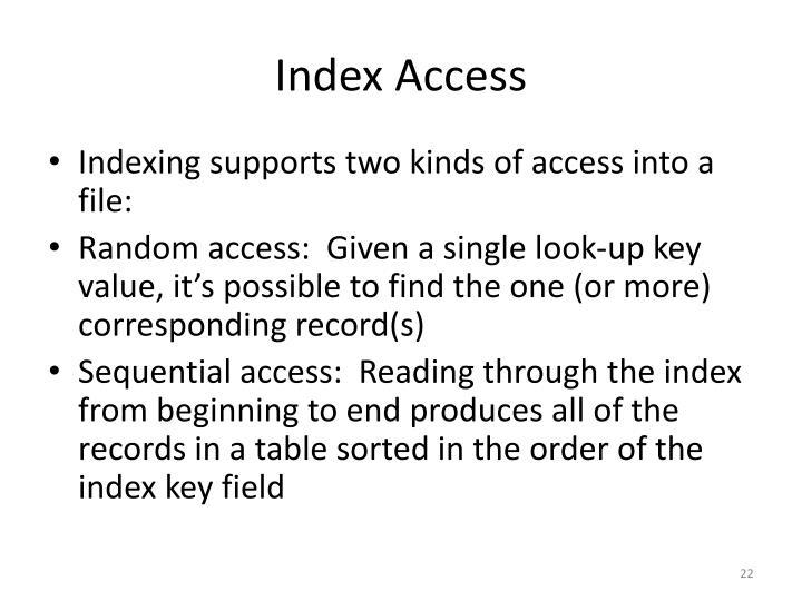 Index Access