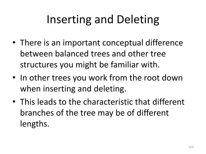 Inserting and Deleting